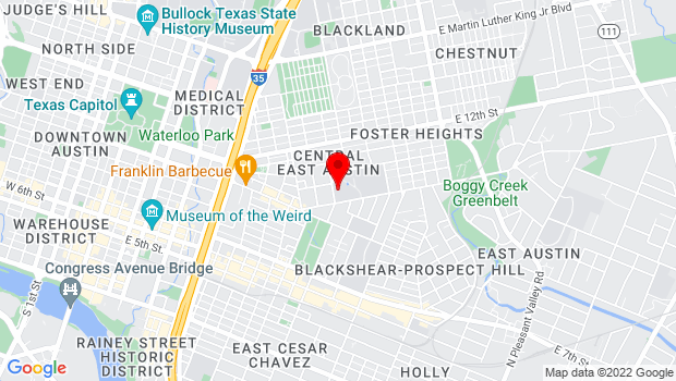 Google Map of 1161 Angelina Austin, Austin, TX 78702
