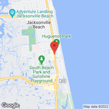 Map of Panera Bread at 2104 South 3rd Street, Jacksonville Beach, FL 32250