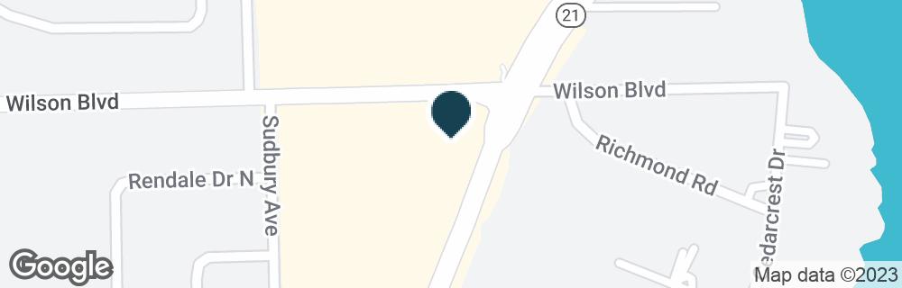Google Map of3604 BLANDING BLVD