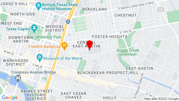 Google Map of 1165 Angelina, Austin, TX 78702