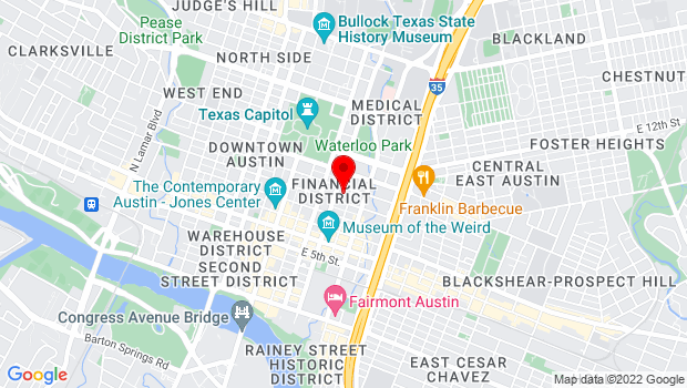 Google Map of 901 Trinity Street, Austin, TX 78701