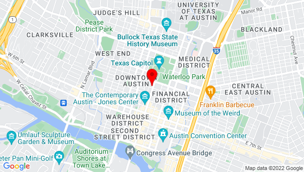 Google Map of 1006 Congress Ave, Austin, TX 78701