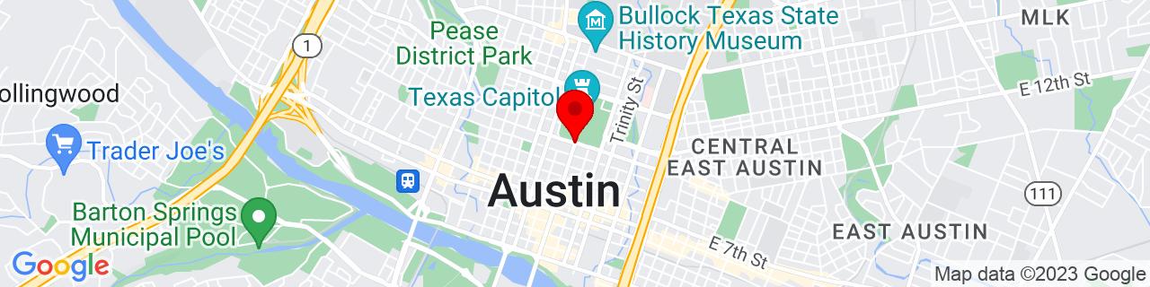 Google Map of 30.2727434, -97.7410821