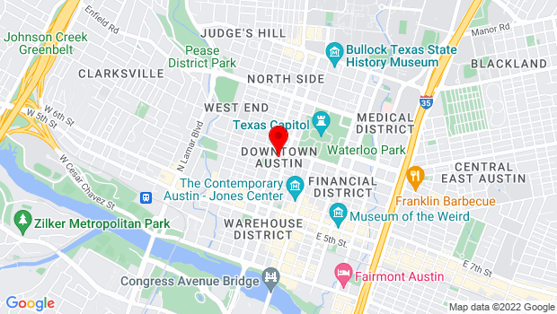 Google Map of anywhere in Travis County, Austin, TX 78701