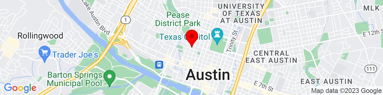 Google Map of 30.273868, -97.747716
