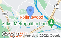 Map of Rollingwood, TX