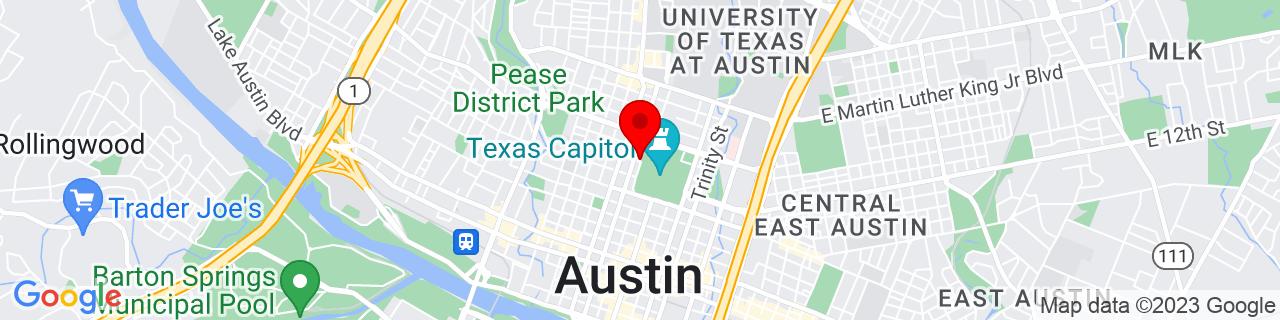 Google Map of 30.2757044, -97.74210199999999