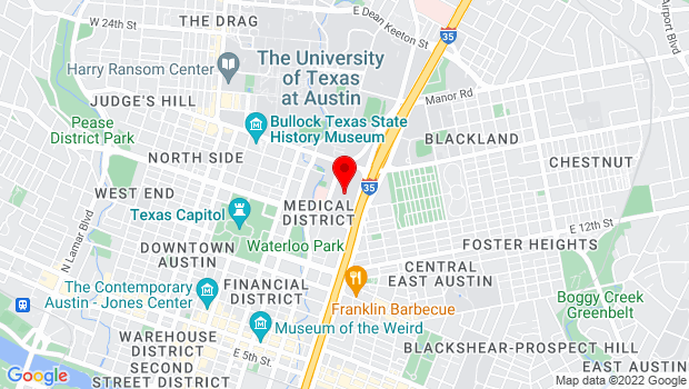 Google Map of 1701 Red River, Austin, TX 78701