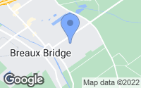 Map of Breaux Bridge, LA