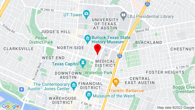 Google Map of 1607 San Jacinto, Austin, TX 78701