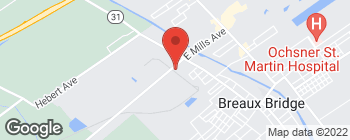 Map of 255 W Mills Ave in Breaux Bridge