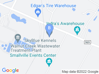 Map of Canine Hilton Boarding Kennel Dog Boarding options in Austin | Boarding