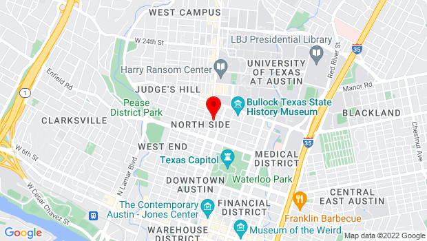 Google Map of 1703 Guadalupe St., Austin, TX 78701