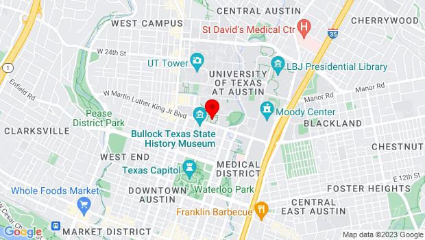 Google Map of 200 East Martin Luther King Junior Blvd , Austin, TX 78701