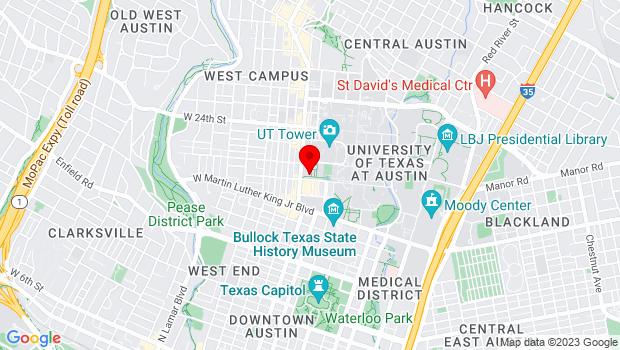 Google Map of 300 West 21st Street, Austin, TX 78712