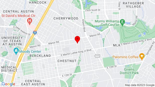 Google Map of 2111 Alexander Ave., Austin, TX 78722