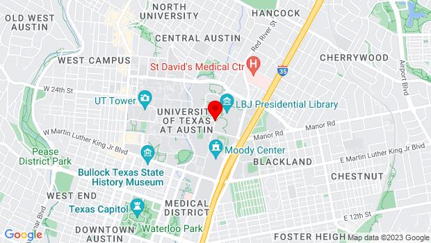 Google Map of 23rd Street & Robert Dedman Dr, Austin , Texas 78701