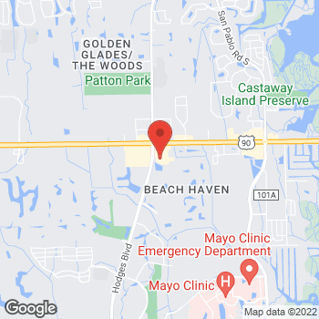 Map of Hair Cuttery at 13740 Beach Blvd Ste 1, Jacksonville, FL 32224