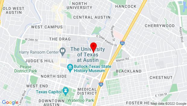 Google Map of 300 East 23rd Street, Austin, TX 78712
