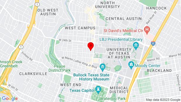 Google Map of 2203 San Antonio Street, Austin, TX 78705