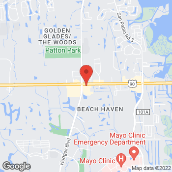Map of Arby's at 13696 Beach Blvd., Jacksonville, FL 32224