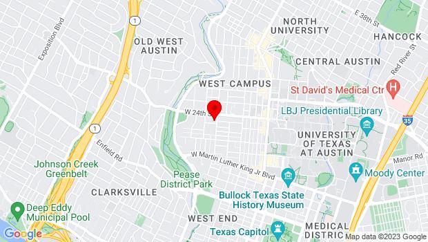 Google Map of 2310 San Gabriel, Austin, TX 78705