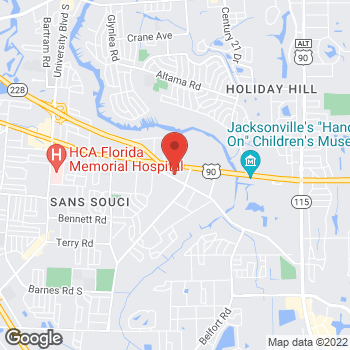 Map of Citi Trends at 7494 Beach Blvd, Jacksonville, FL 32216