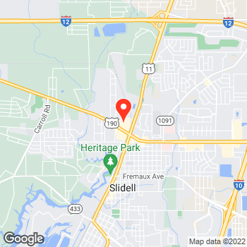 Map of Local Pizza in Slidell – Cicis Pizza 70460 at 140 Gause Blvd W, Slidell, LA 70460