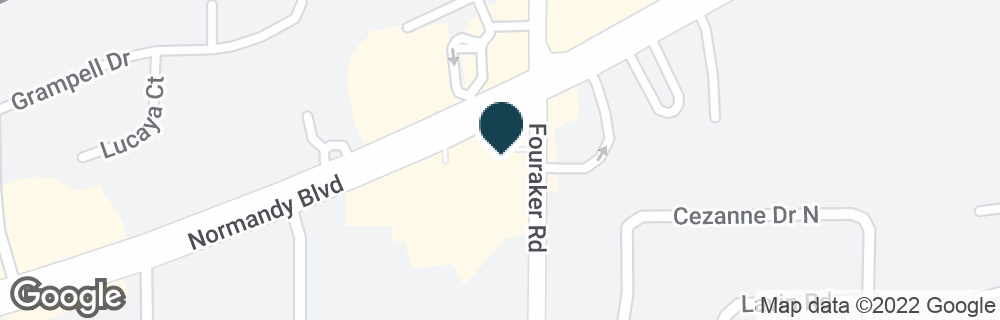 Google Map of8018 NORMANDY BLVD
