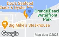 Map of Orange Beach, AL