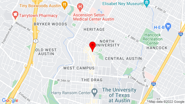 Google Map of 2908 Fruth St, Austin, TX 78705