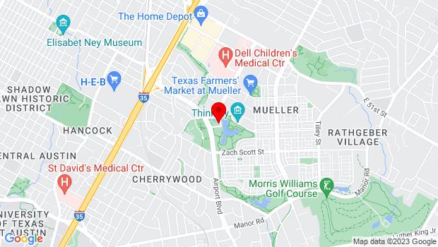 Google Map of 4550 Mueller Blvd, Austin, TX 78723