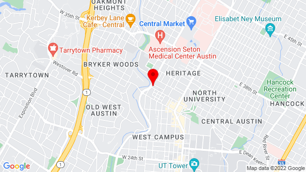 Google Map of 3001 N Lamar Blvd, Austin, TX 78705