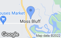 Map of Moss Bluff, LA