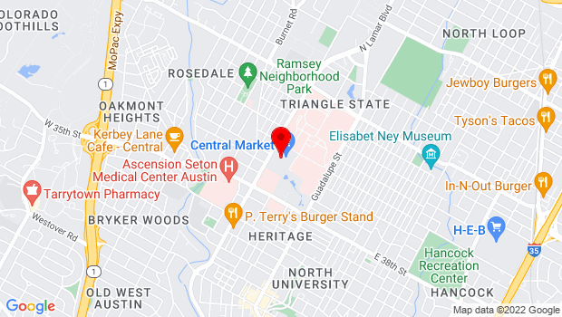 Google Map of 4001 North Lamar Boulevard, Austin, TX 78756