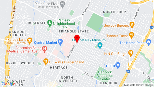 Google Map of 511 West 43rd Street, Austin, TX 78751