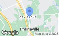 Map of Prairieville, LA