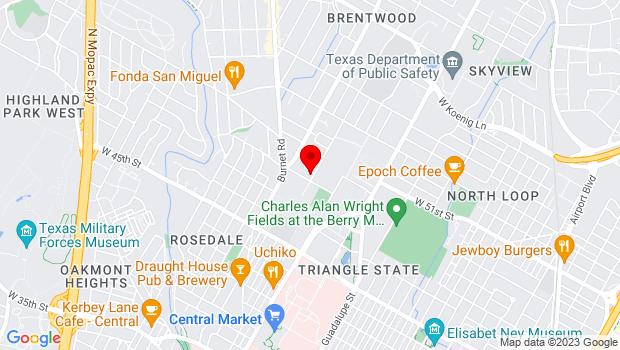 Google Map of 4902 Grover Ave., Austin, TX 78756