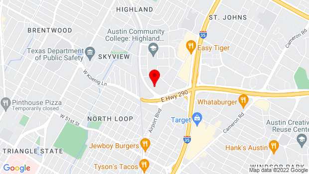 Google Map of 5775 Airport Boulevard #725, Austin, TX 78752