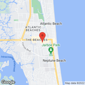 Map of Hair Cuttery - Closed at 630 Atlantic Boulevard Suite 4, Neptune Beach, FL 32266