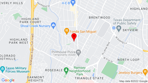 Google Map of 2200 Hancock Drive, Austin, Texas 78756