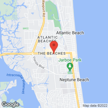 Map of Verizon Authorized Retailer - TCC at 1108 Atlantic Blvd, Neptune Beach, FL 32266