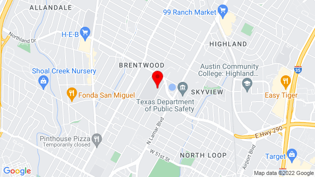 Google Map of 5600 Sunshine Drive, Austin, TX 78756