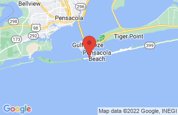Map of Pensacola Beach