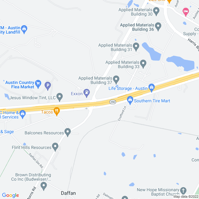 Map of 290 toll (Manor Expressway)