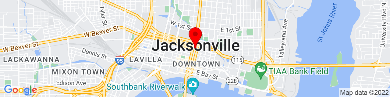 Google Map of 30.331380555555555, -81.6558