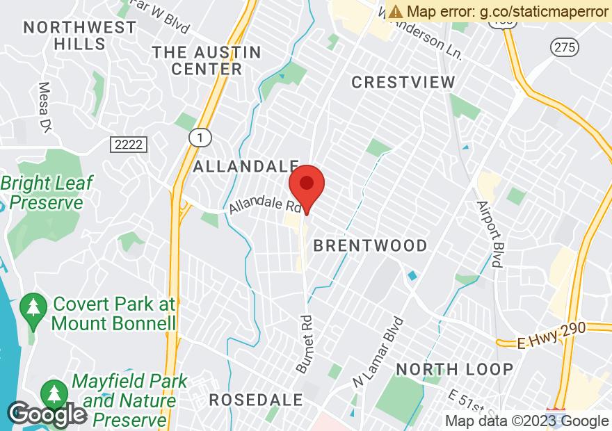 Google Map of 5819 BURNET RD