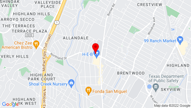 Google Map of 2140 Allandale Road, Austin, TX 78756