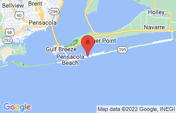 Map of Pensacola Beach
