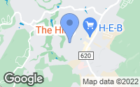 Map of The Hills, TX